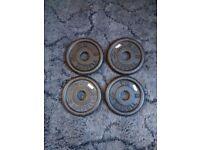4x 1.25kg York cast iron standard plates (5kg total)