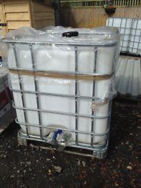 1000 litre IBC Water/Storage tanks