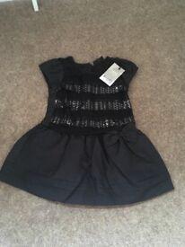 NEXT brand new black sequin dress size 9-12 months