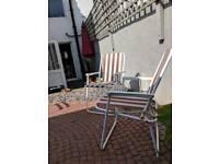 2 x garden/beach chairs
