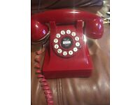 Rectro red telephone in excellent condition phone lead included