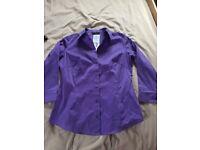 Ladies M&S size 8 purple blouse NWT