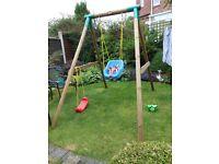 Little Tykes Milano Single Wooden Swing.