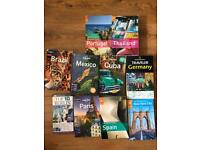 10 travel books Lonely Planet, Rough Guide
