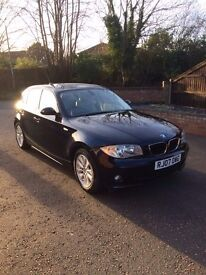 Bmw 120d auto Navy blue with a Grey leather interior