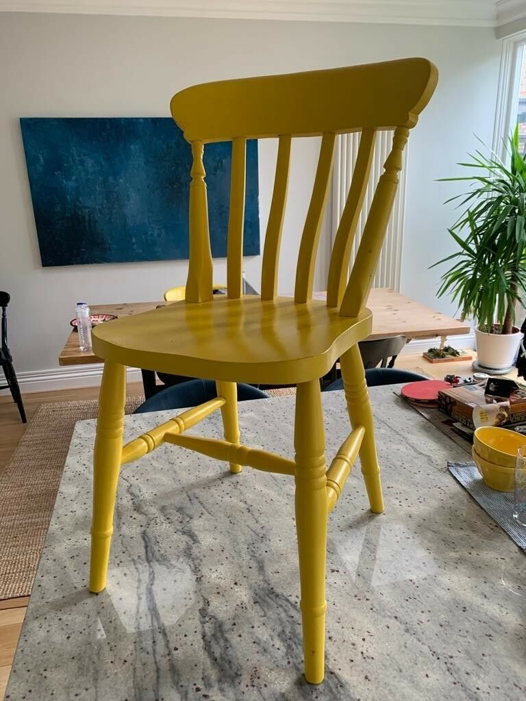 Brilliant 6 Painted Wooden Chairs In Putney London Gumtree Home Interior And Landscaping Oversignezvosmurscom