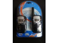 PAIR WALKIE TALKIES BRAND NEW
