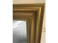 Gold framed mirror, 98cm by 70cm