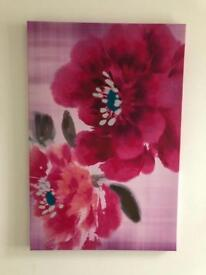 Pink Flowers Canvas Prints (2 available)
