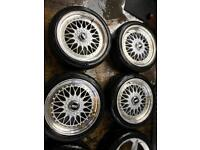 "17"" BBS ALLOY WHEELS ASTRA, CORSA, CLIO, MAGANE, CIVIC, FIESTA, FOCUS BMW E30"
