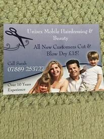 Mobile Hairdressing around Ipswich Area