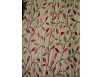 Large pair of very good condition lined pencil pleat curtains from John Lewis