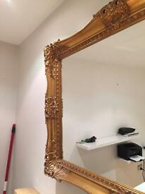 Antique vintage gold hanging mirror
