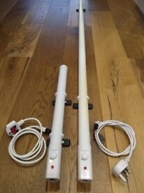 190W slimline tube tubular eco heater with thermostat - Great for greenhouse/shed/garage etc.