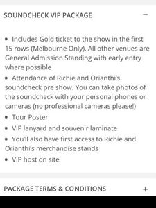 Sept 29 SYD: Richie Sambora Orianthi soundcheck concert ticket Bexley Rockdale Area Preview