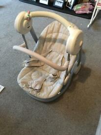 Mammas and papas rocking musical baby rocker chair