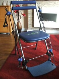 Chair Gym - Multi Gym Fitness Chair Full Body Slimming Toning Workout (Blue) In original box