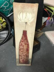 Red vase painting