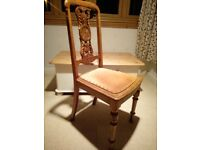 antique oak bedroom hall dining chairs