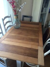 Shabby Chic dining table and mismatched chairs!!!
