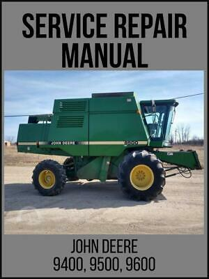 John Deere 9400 9500 9600 Combine Service Repair Technical Manual Tm1401 Usb