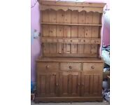 Large Pine Dressing Table Cabinet - Good Condition