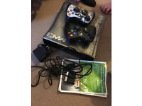 X BOX 360 WITH TWO CONTROLERS