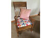 Beautiful Oak Rocking Chair