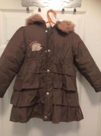 Pampalina girls winter coat, size 86
