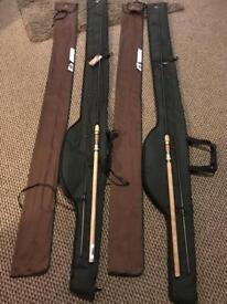 X2 jrc specialist float rods / chub sleeves