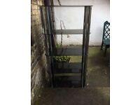 Glass shelf unit stand