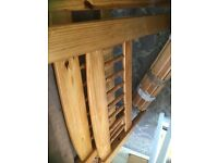 Solid pine bed frame .single bed. Age related marks could be used as it is or as a shabby project