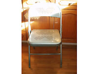 3 Metal Folding Chairs (needing TLC)