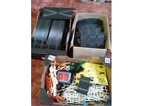 Big job lot vintage scalextric track and accessories