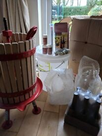 Cider Making Kit - Never been used. Everything needed to make your own cider except the apples