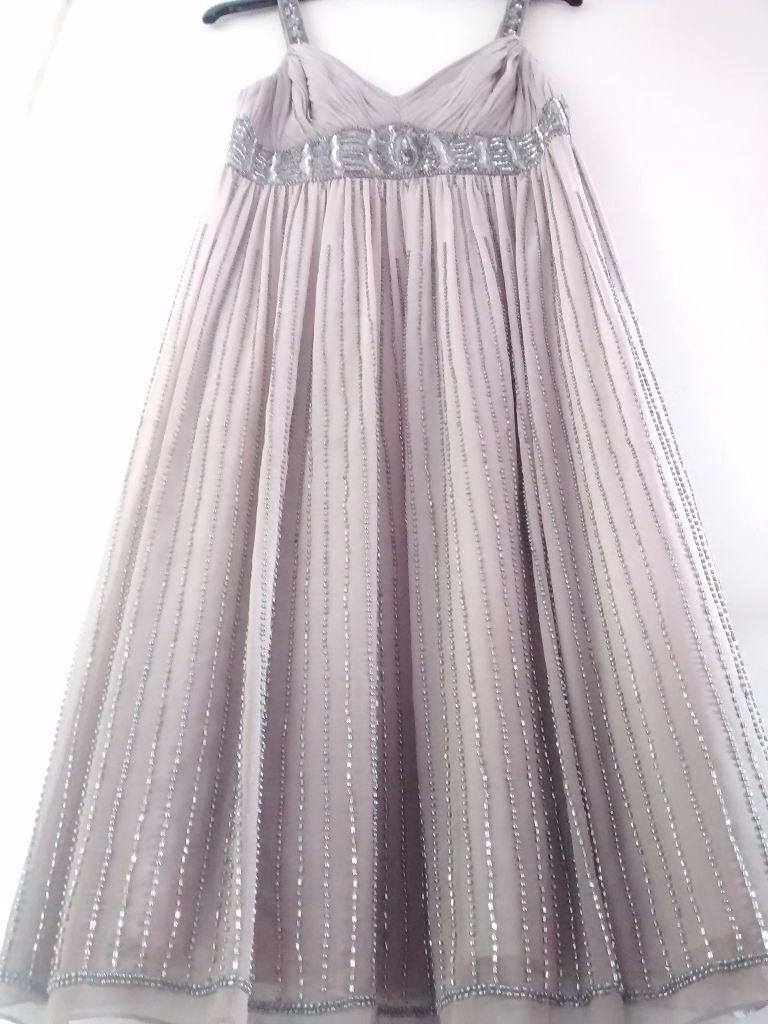 Beautiful Taupe, knee length dress, by Debut, Debenhams.size 8 ...