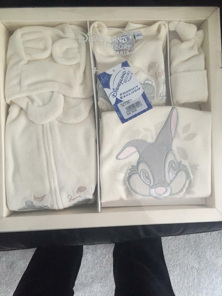 Disney baby bundlein Birstall, LeicestershireGumtree - Unisex baby clothes for sale. In cream. Age 6 months. From disney land Paris. Includes coat, trousers, long sleeve top, long sleeve baby grow, hats and mittens. Has Winnie the Pooh characters on. RRP 39.90 euros. £20