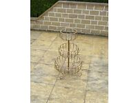 2 Plastic-coated metal planters (Copper coloured, 1-tier and 3-tier)