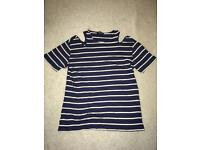 Size 10 Topshop striped blue top