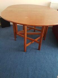 Folding sides, large table