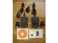 *** Belkin F5D4072uk Powerline AV Adaptor, Twin-APack (200mpbs) Black from £25***