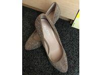 Aldo beige stud heels brand new size 38/39