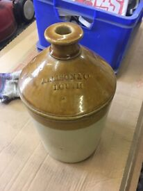 stoneware jars/bottles etc