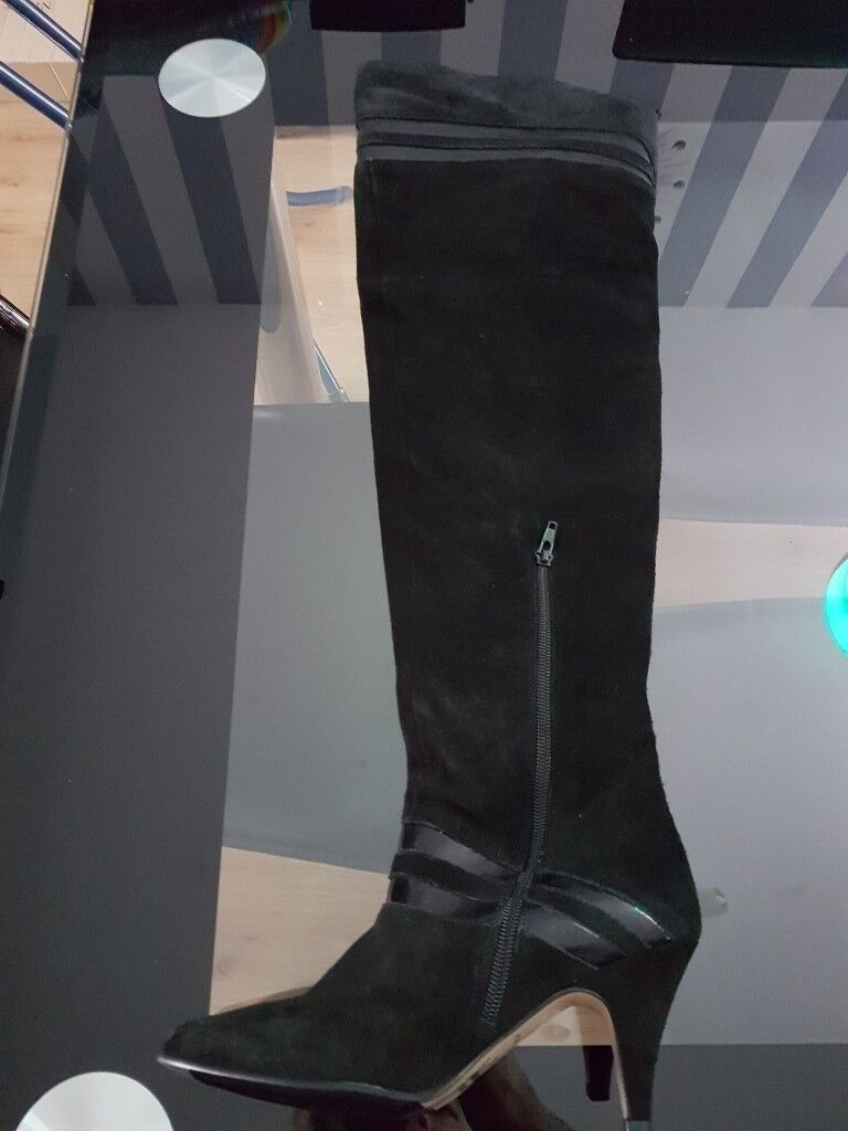 River Island over the knee heeled boots size 5