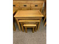 JB Global solid oak nest of tables * free furniture delivery *