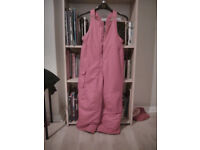 pink Snow dungarees to fit age 5-6 by Cherokee