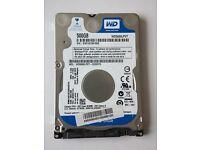 """WD Blue 500GB 2.5"""" WD5000LPVT Internal HDD"""