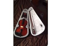 Children's violin and case