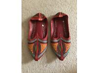 Decorative Sandles Slippers Khussa, size 7-8