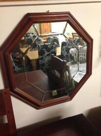 Beautiful walnut mirror £50
